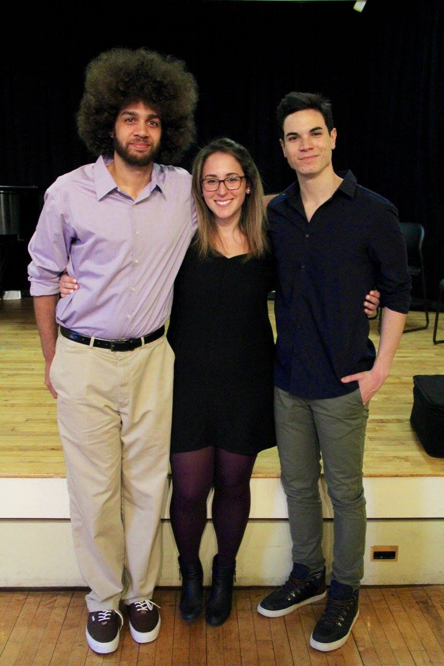 Jason Gotay with Kristen Calabrese and Justin Ward Weber
