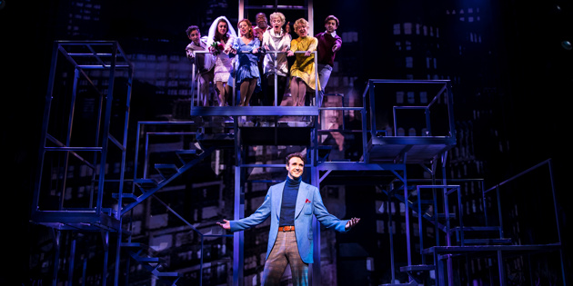 Michael Xaiver and the company of  Prince of Broadway