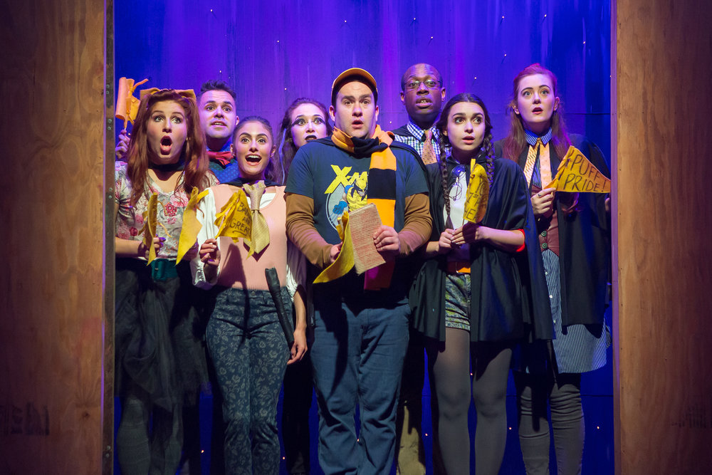The cast of  Puffs, Or Seven Increasingly Eventful Years at a Certain School of Magic and Magic  (photo by Hunter Canning)