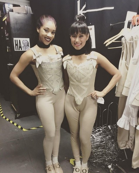 Kamille Upshaw (left, with Karla Puno Garcia)