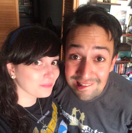 Gillian Pensavalle (left, with Lin-Manuel Miranda)