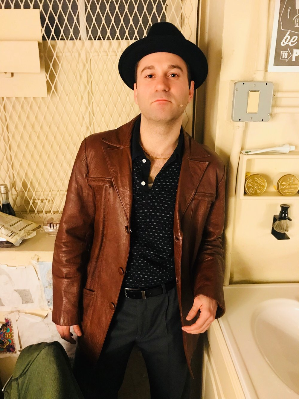Michael Fatica backstage at    A Bronx Tale