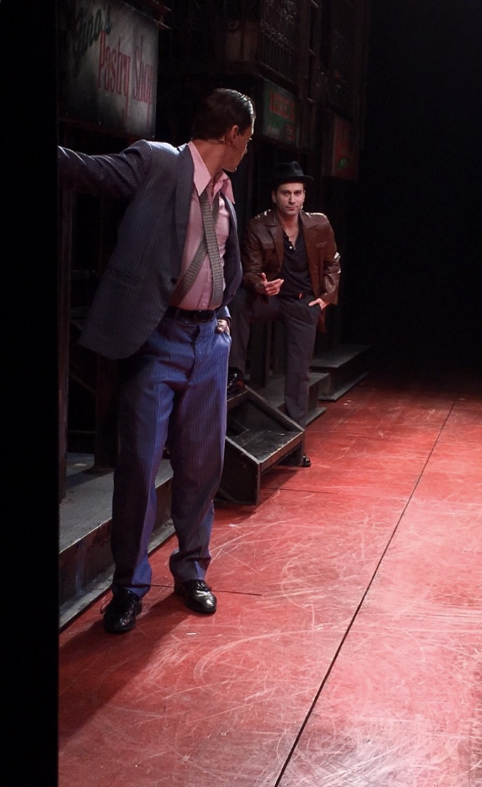 "Michael Fatica in  A Bronx Tale  as ""Slick"" with Rory Max Kaplan, who plays ""Handsome Nick"""