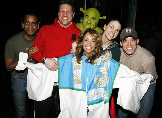 Jennifer Cody winning the robe for  Shrek