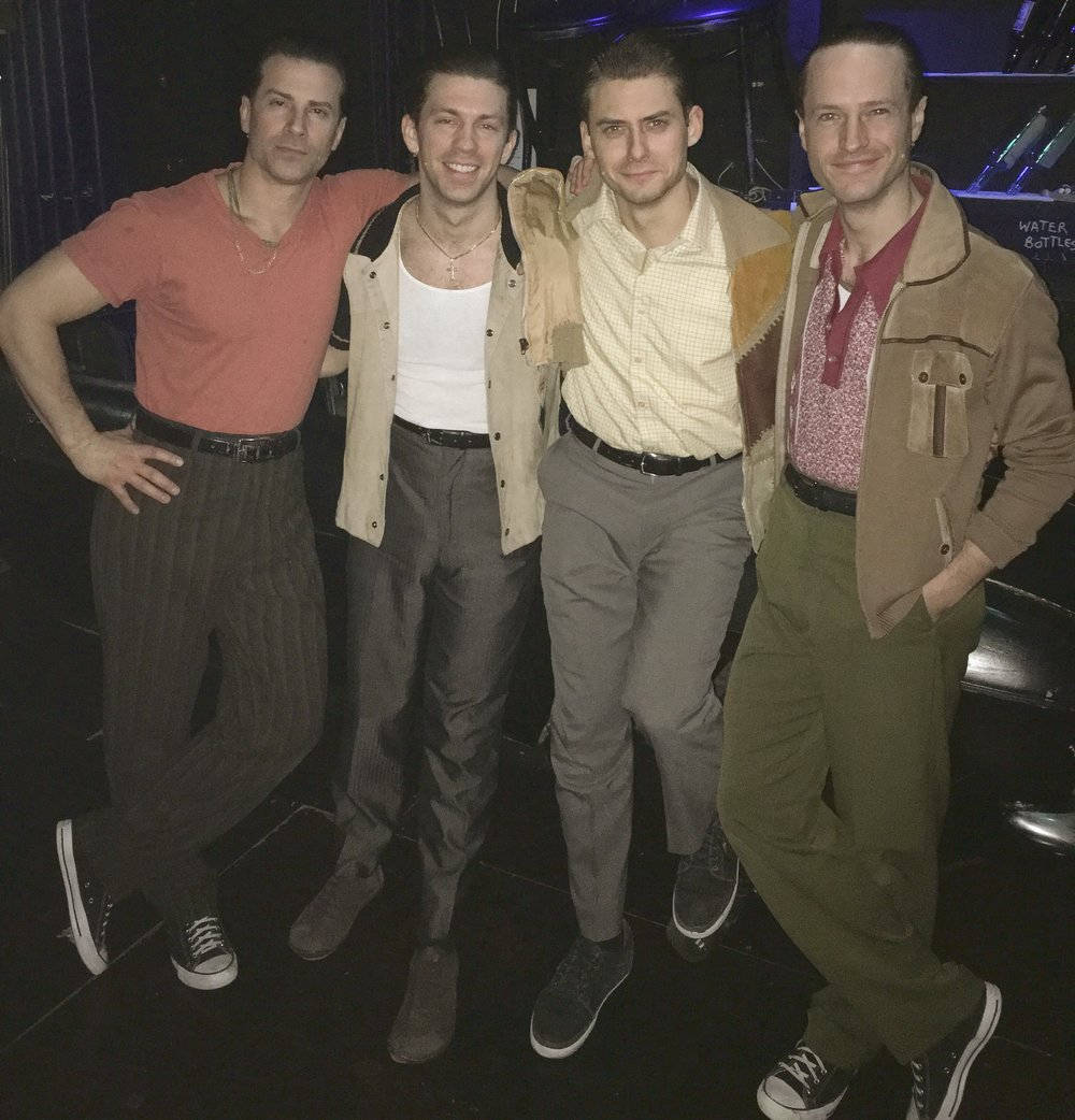 Rory Max Kaplan and the cast of  A Bronx Tale