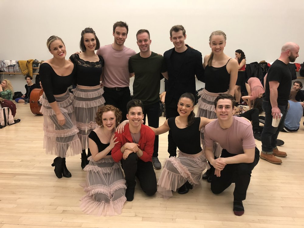 The cast of Ryan Domres' Dance Break 2018 piece.