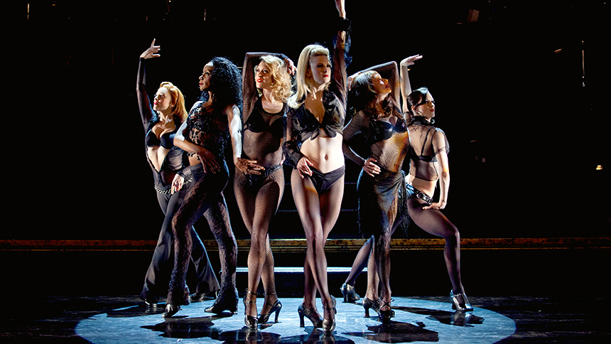 Donna Marie Asbury (second from right) & the cast of  Chicago