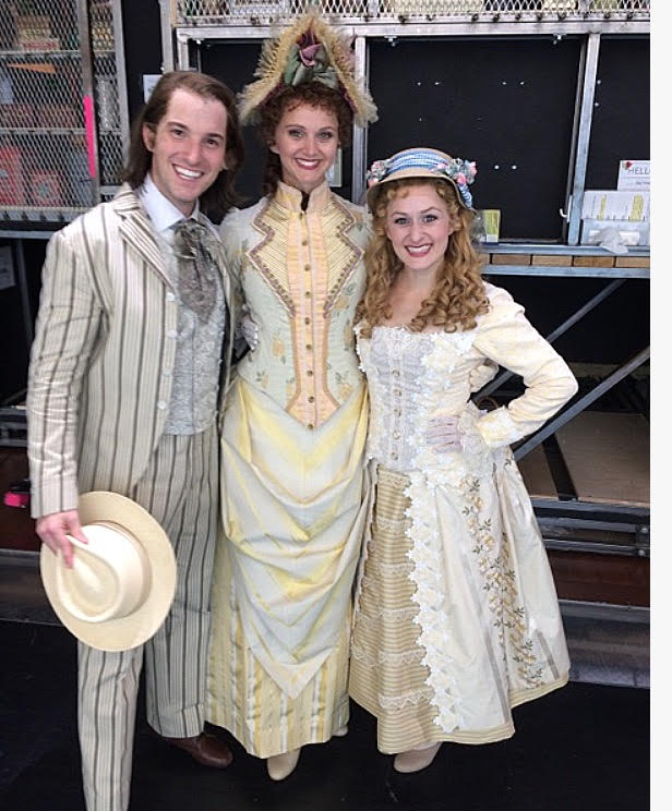 Justin Bowen, Leslie Donna Flesner and Amanda LaMotte in Broadway's  Hello, Dolly!