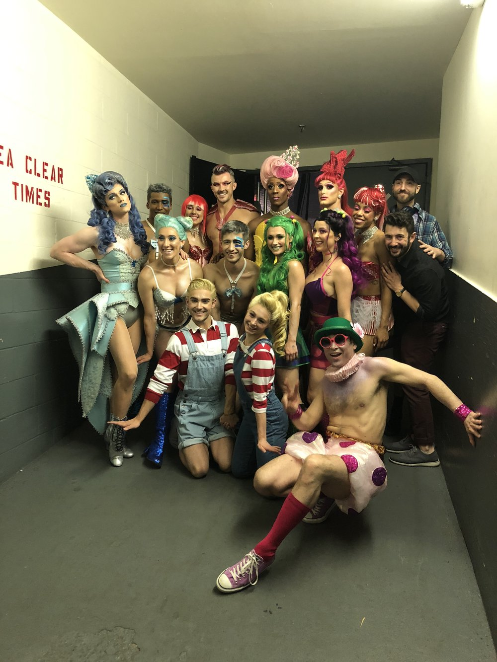 Brittany Conigatti and members of the cast of  Broadway Bares