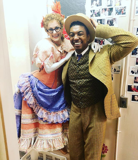 Amanda LaMotte and Christian Dante White in  Hello, Dolly!
