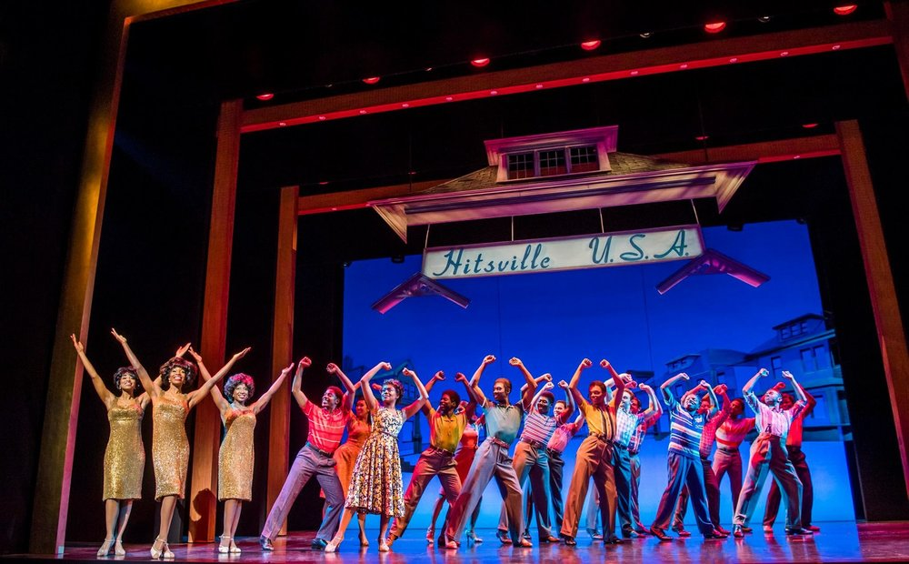 The cast of  Motown the Musical