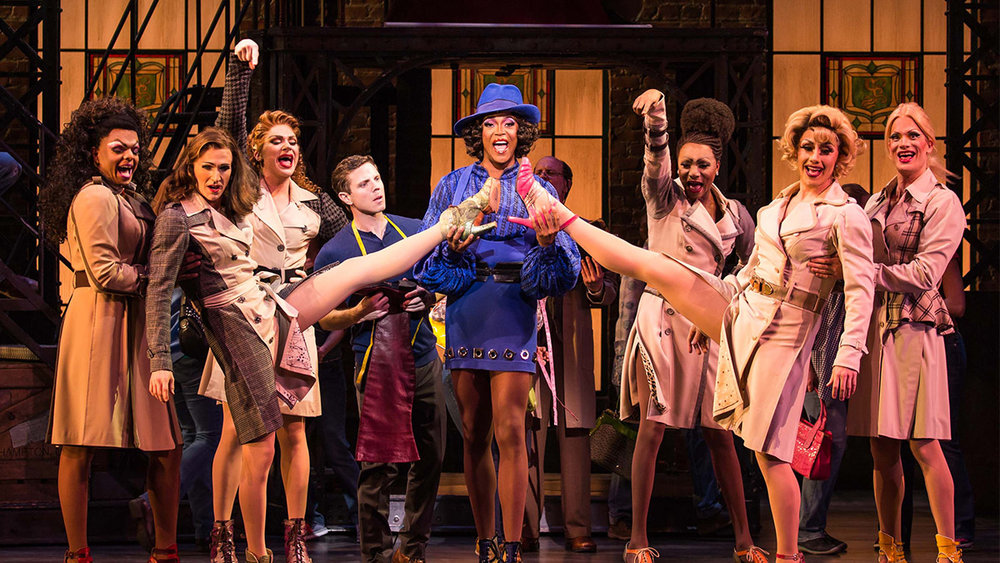 Fredric Odgaard (second from right) and the cast of  Kinky Boots