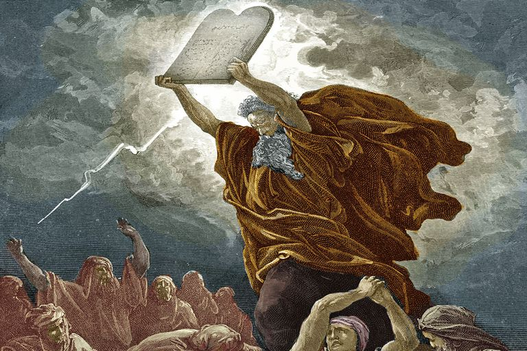 Actual photograph of Moses receiving The 5 Understudy Rehearsal Commandments from on high