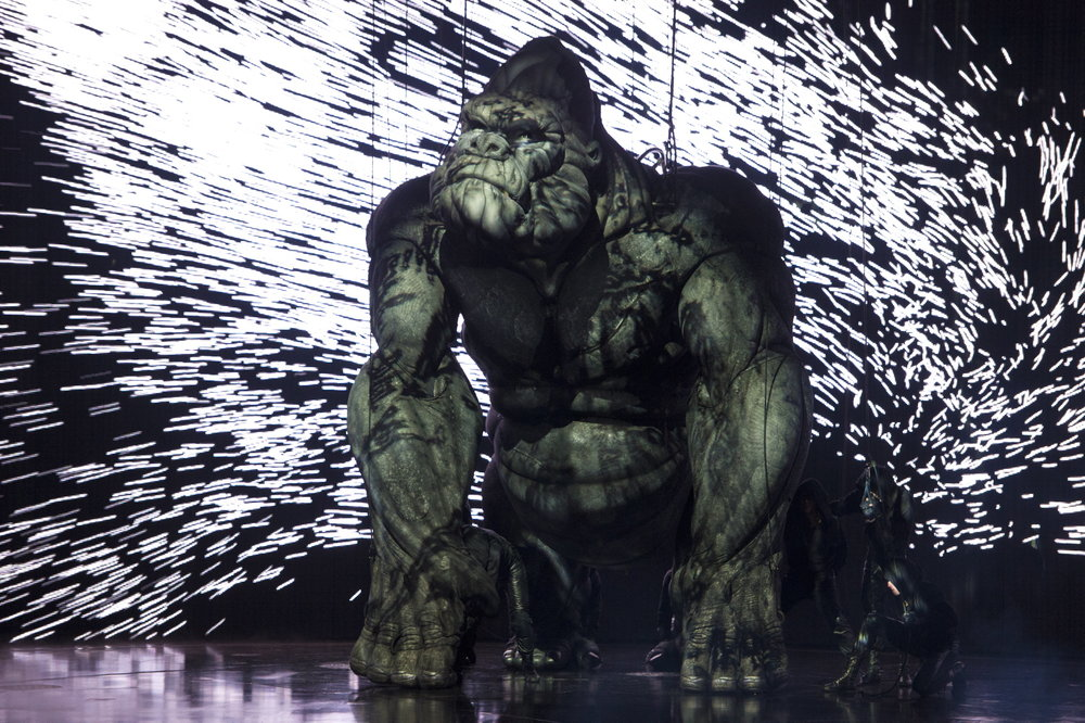 A scene from the Melbourne, Australia production of  King Kong  (Photo by The Chase James Morgan)