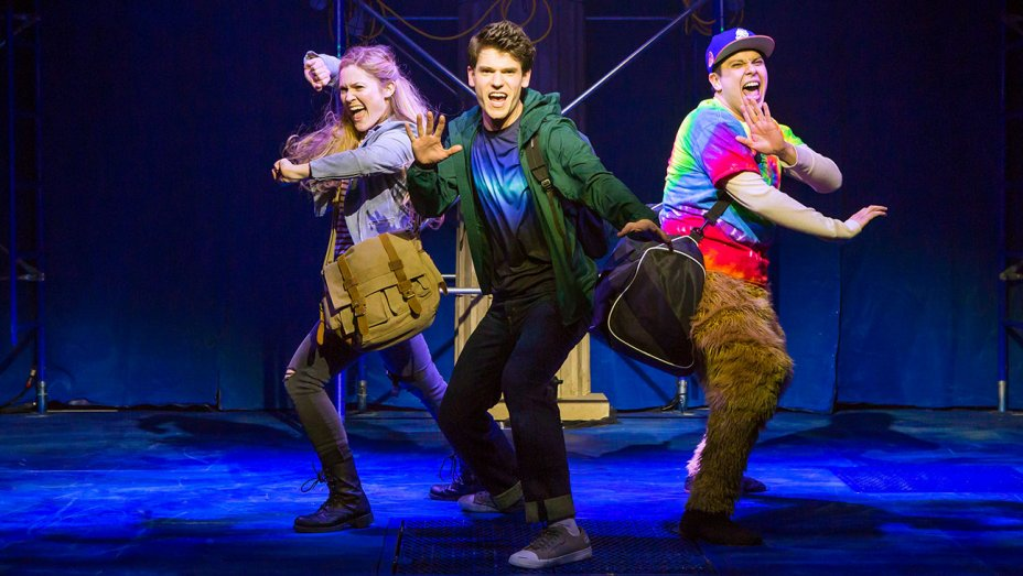 Kristin Stokes, Chris McCarrell and George Salazar in  The Lightning Thief: The Percy Jackson Musical