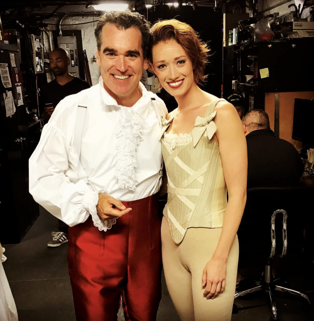 Kim Taylor Cox (backstage with Brian D'Arcy James)