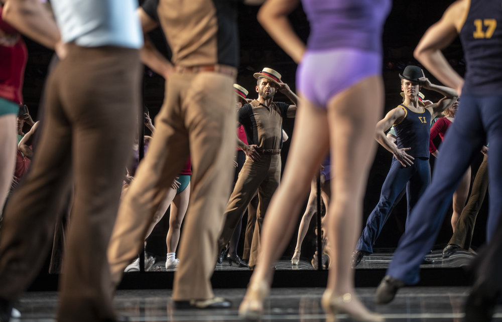 Tony Yazbeck and Ryan Steele in  A Chorus Line  (Photo by Joan Marcus)