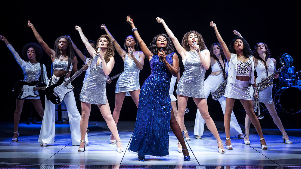 Kimberly Dodson (second from right) with the cast of  Summer: The Donna Summer Musical