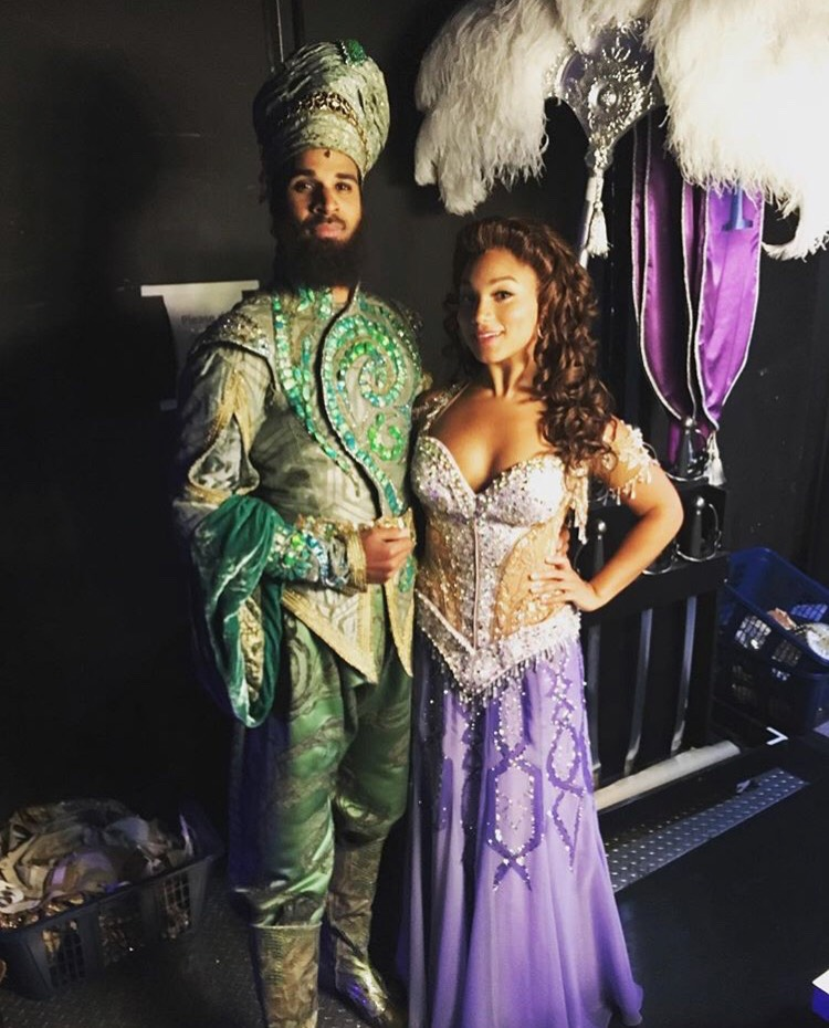 Mary Antonini and Jaz Sealey in  Aladdin