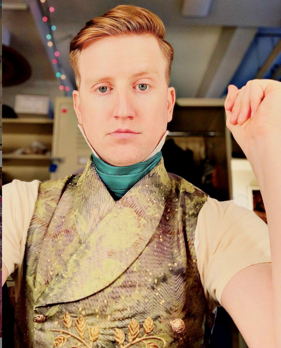 Travis Waldschmidt backstage at Met Opera's  la Traviata