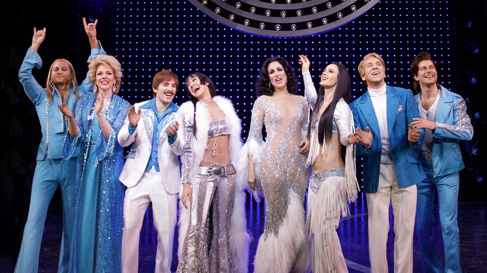 Michael Berresse (second from right) and company in  The Cher Show