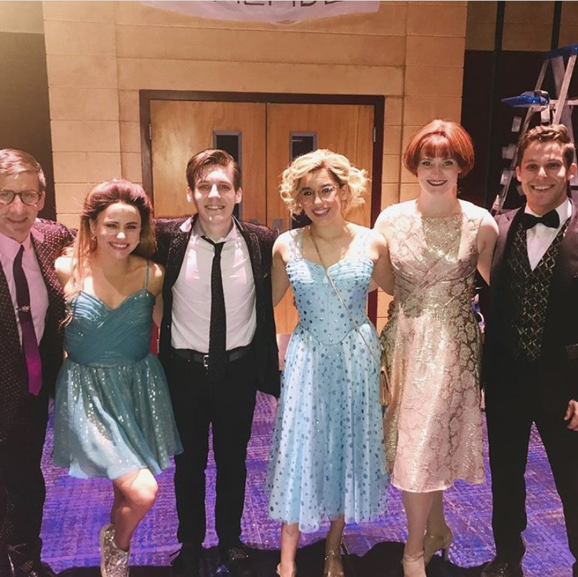 Nicholas Masson (third from left) and the cast of  The Prom