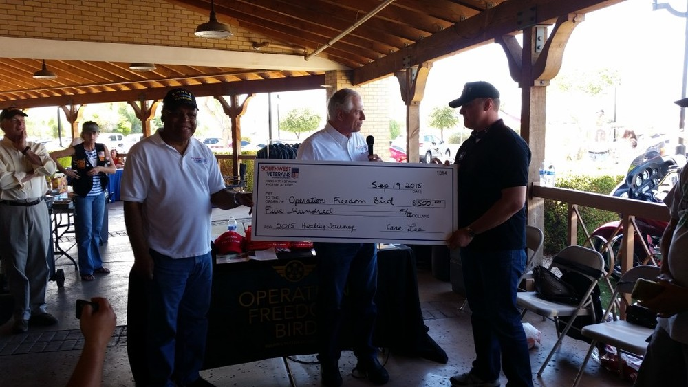 The Southwest Veterans Chamber of Commerce (SWVCC) was one of numerous Veteran support organizations that participated in a Veterans Outreach Event Saturday September 19th at Chandler Harley Davidson.