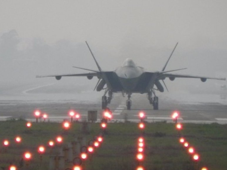 The PLA Air Force's stealth fighter, the J-20.