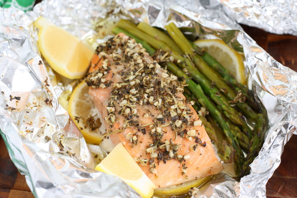Herb Butter Salmon and Asparagus Foil Packets1.JPG