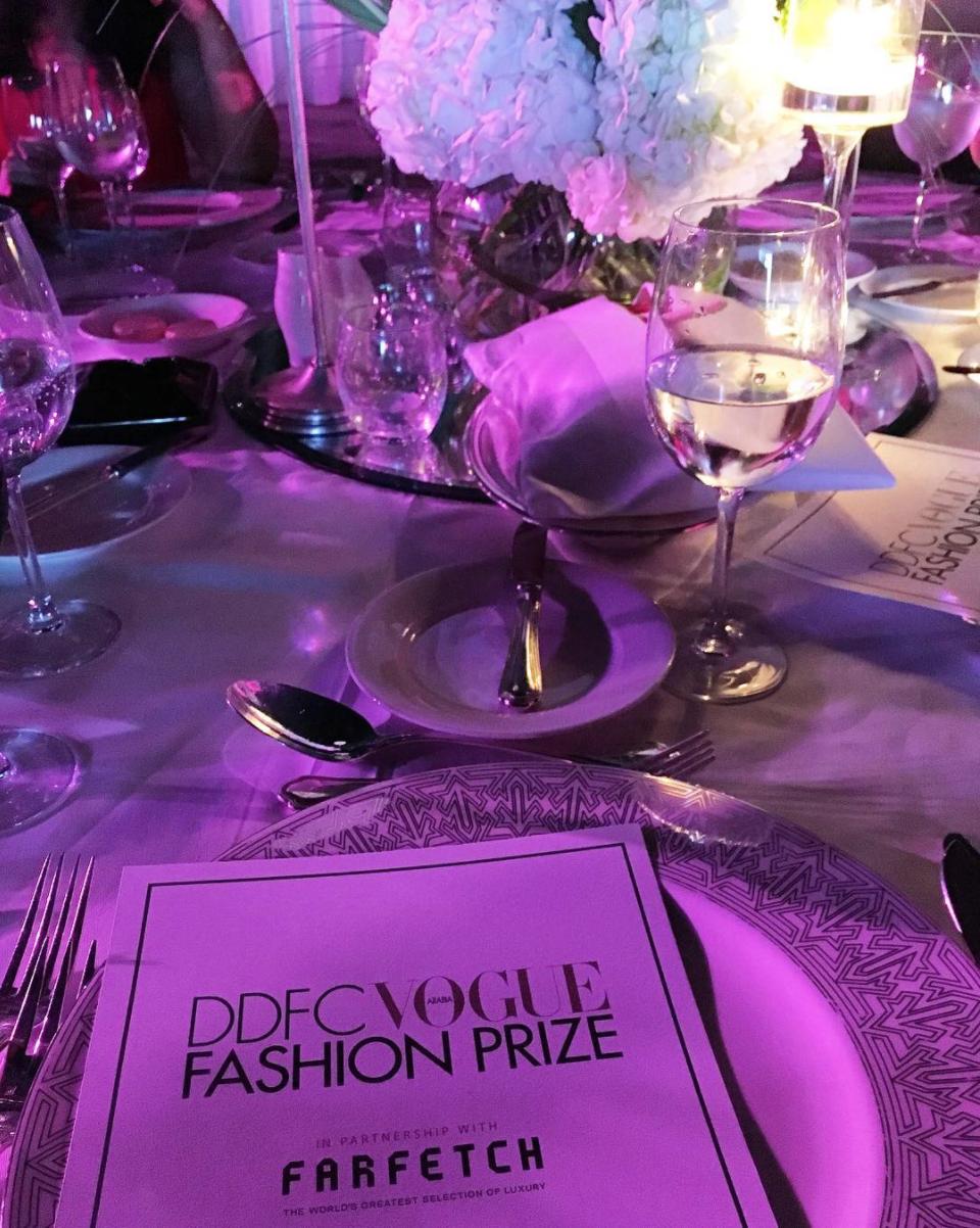 Fashion Prizeガーラディナーのテーブルの写真