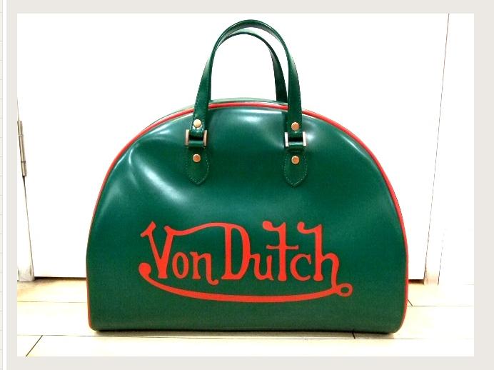 Von Dutchのボーリングバッグに学ランという通学スタイルw