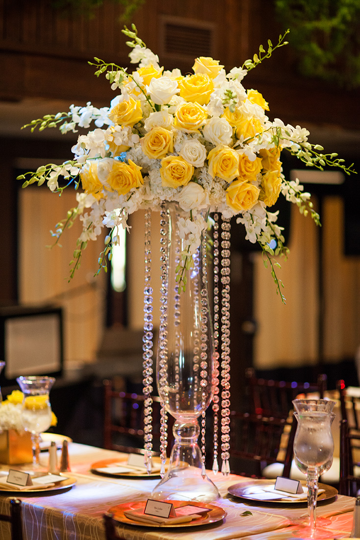 White and yellow wedding artquest flowers 13tall centerpiece with orchidsg mightylinksfo
