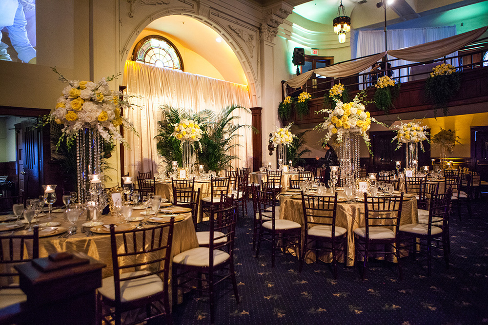 6_White and Yellow reception centerpiece.jpg