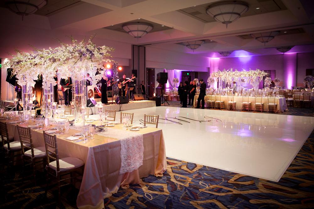 Lavender and white wedding artquest flowers for 1 2 3 4 dance floor