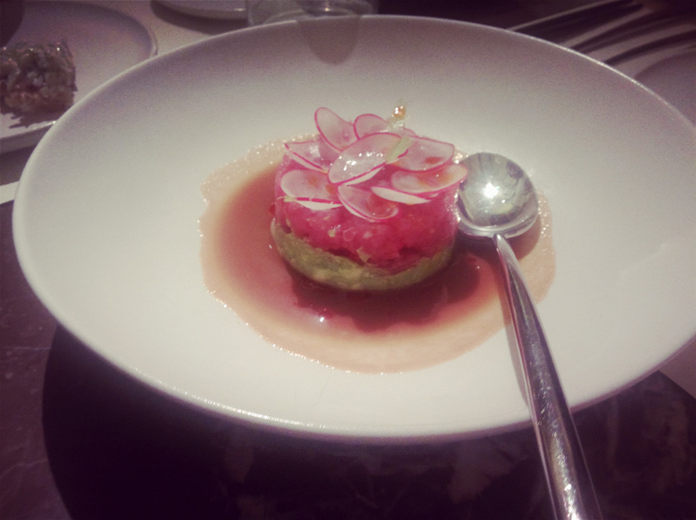 Tuna tartare with ginger marinade