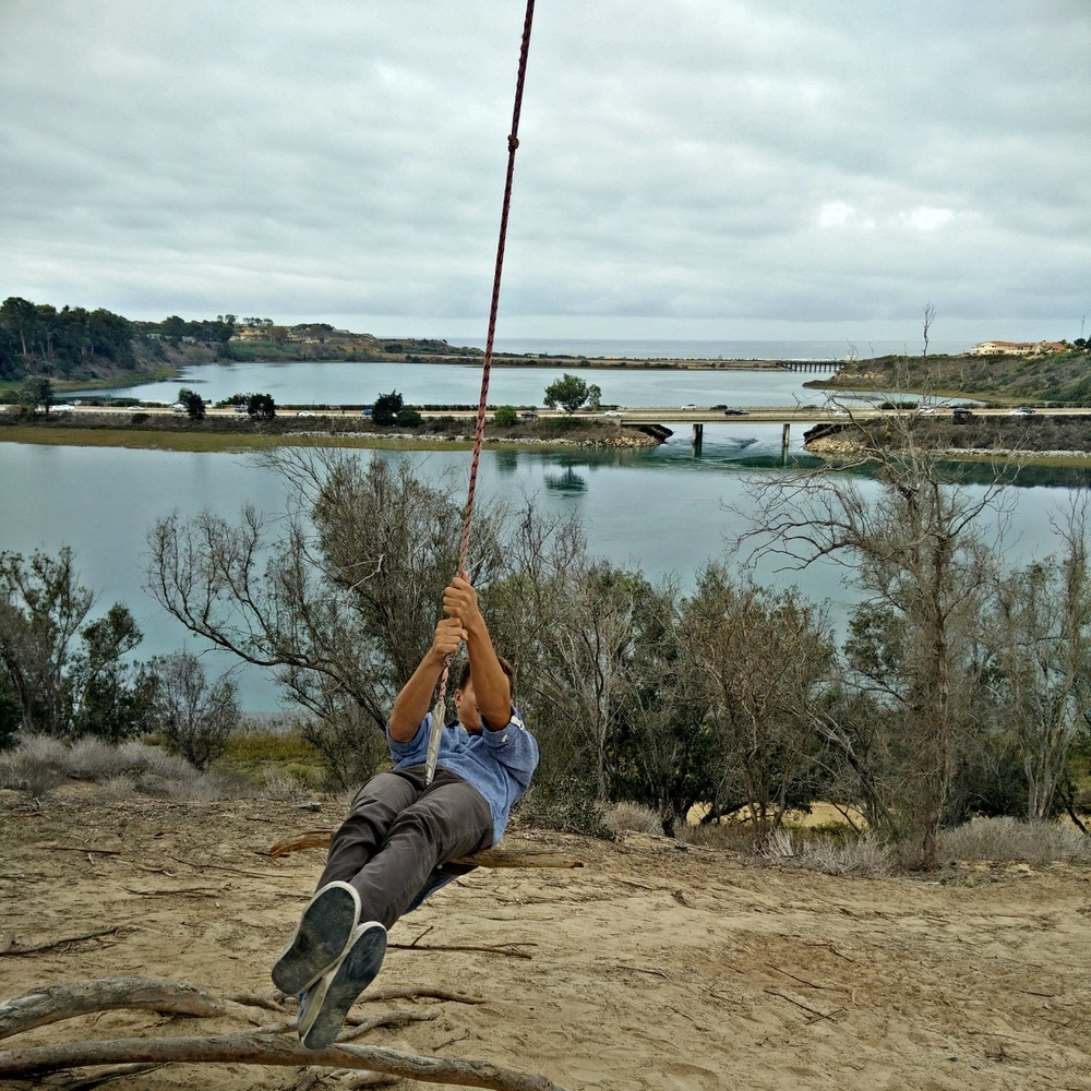Found a swing overlooking the Batiquitos Lagoon.