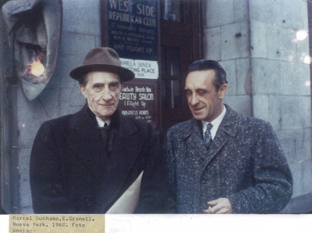 Marcel Duchamp y Eugenio Granell 1950's