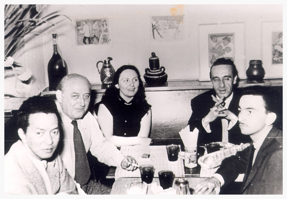 Wifredo Lam, Benjamin Péret, Eva Slucer, Eugenio Granell, Rafael Ferrer - Paris, 1954