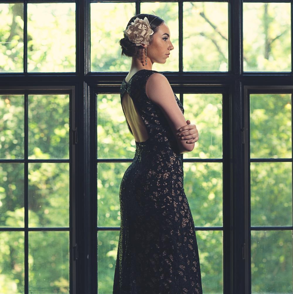 Elizabeth Victoria Millinery-prom style flower fascinator champagne.jpg