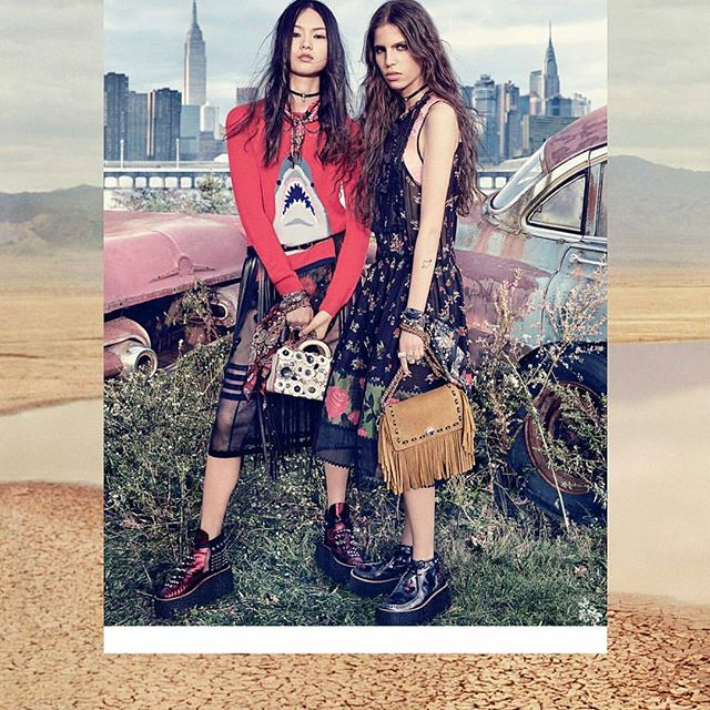 Kinda sorta really absolutely obsessed with the new rocker  bohemian vibe of @Coach 's new ad campaign. . . . #beyondaveil #coach #rockerchic #bohemian #coachbag #flowerprint #bohochic #flowerchild #hippiewedding #luxe