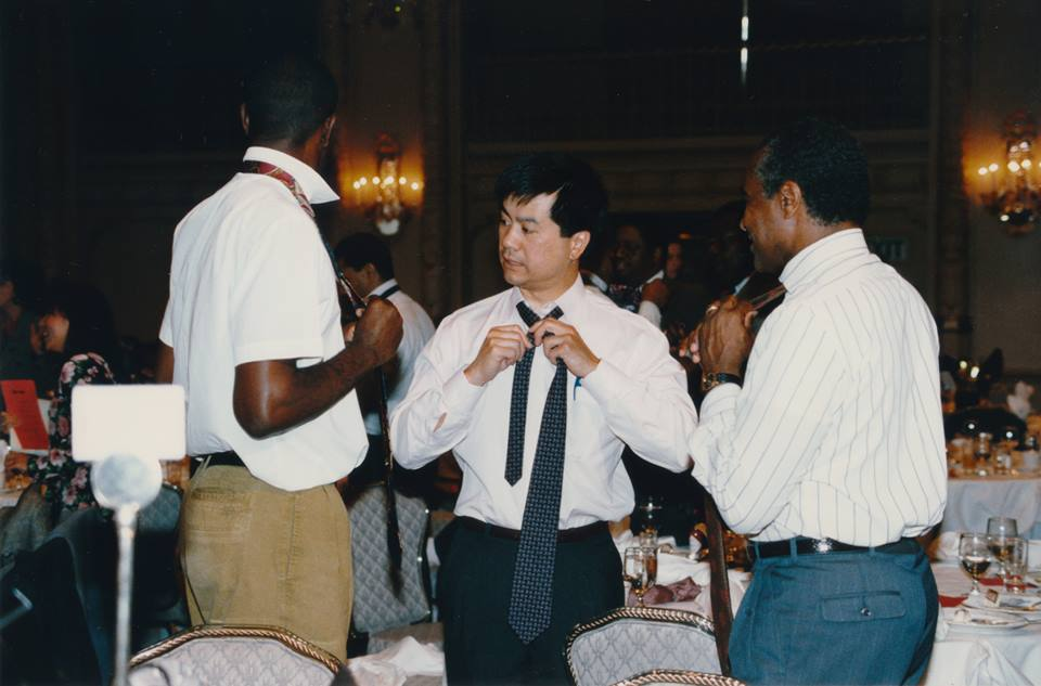 "Ambassador Gary Locke attending The Breakfast Group ""Tie-One-On"" Luncheon (c.1994)"