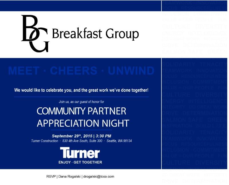 Turner Construction Company's Partner Appreciation Event
