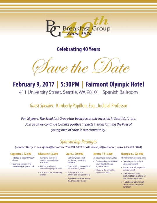 Save the date the bg celebrating 40 years event the breakfast bg 40th stopboris
