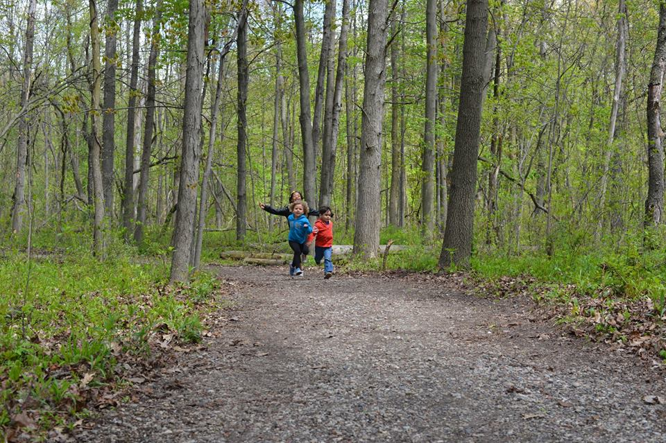 Kids enjoying the Hansen Nature Trail