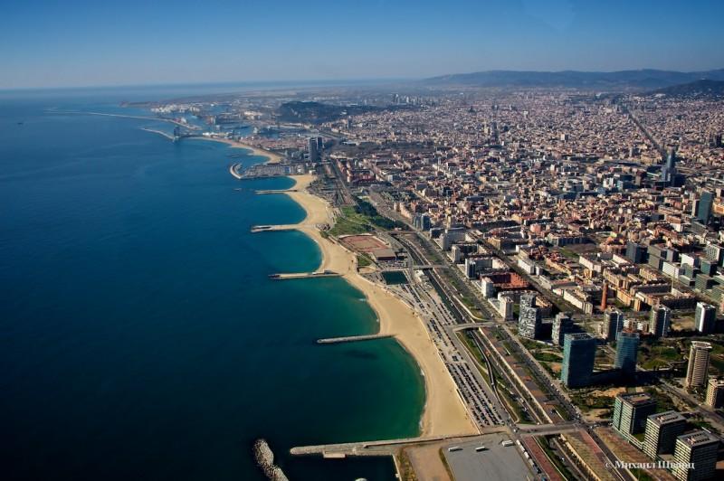 Пляжи Барселоны, последний – нудистский