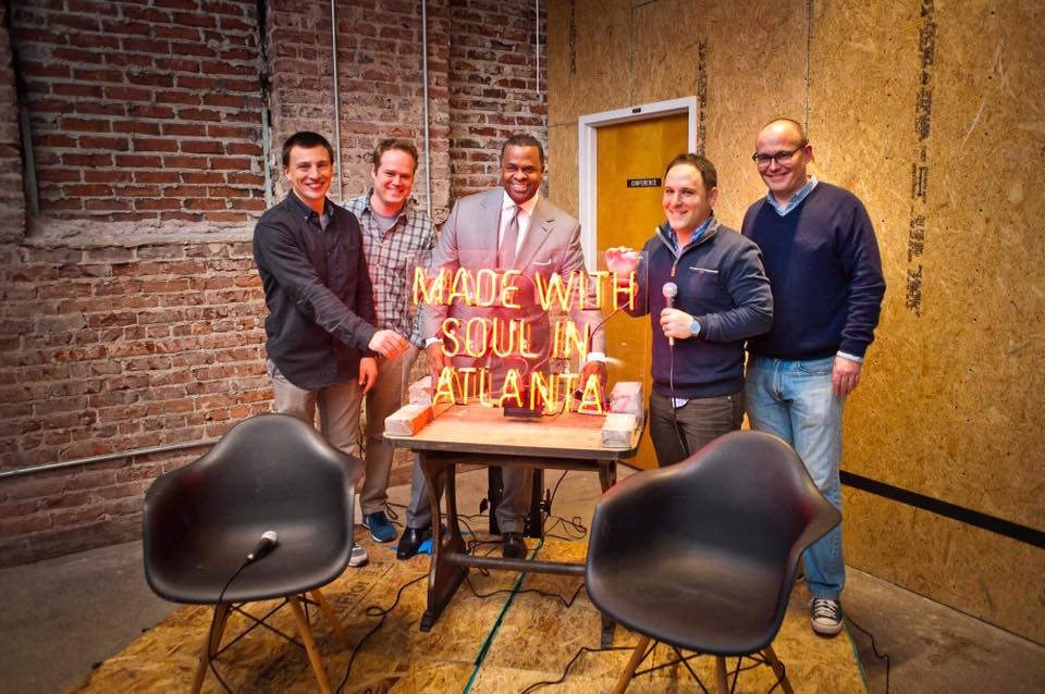Sign-Lighting.  What you do instead of ribbon-cutting at Switchyards. | PHOTO:  Jason Seagle Photography