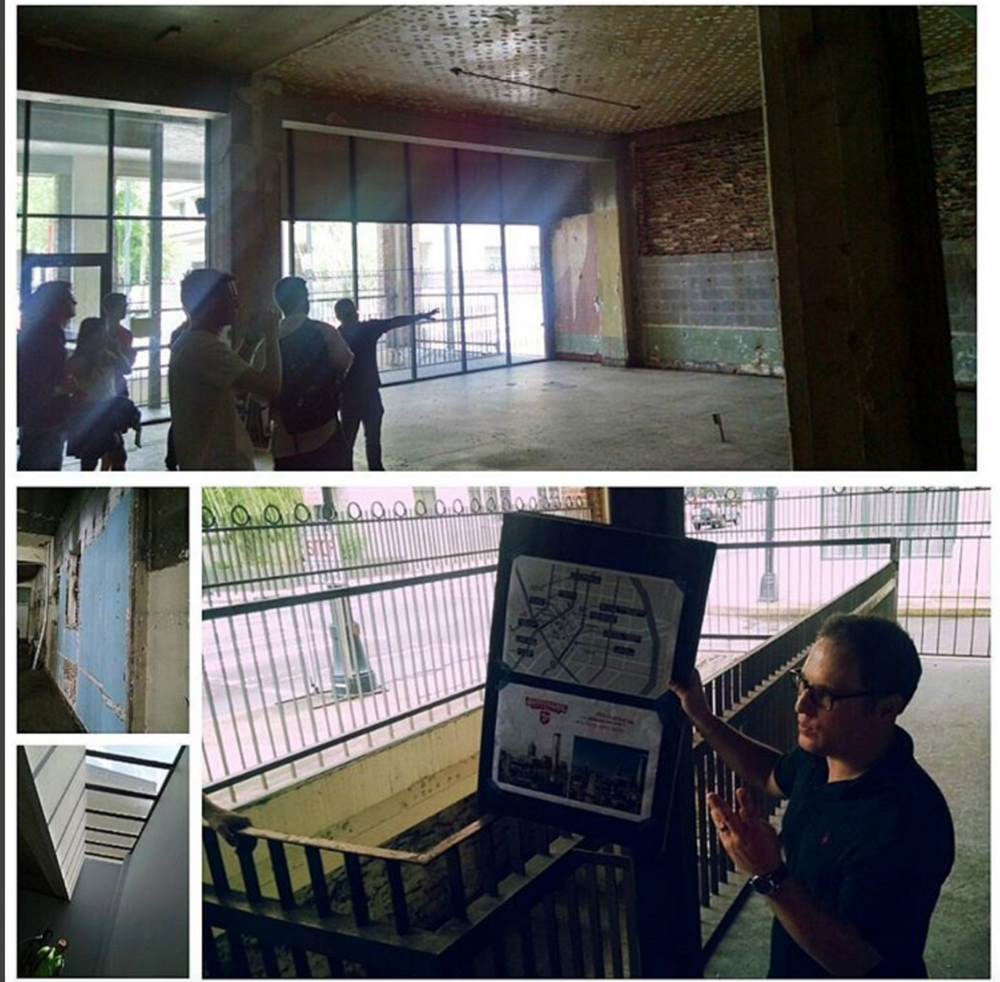 Switchyards tour led by Tavani in August 2015. So many changes from the space when they started!