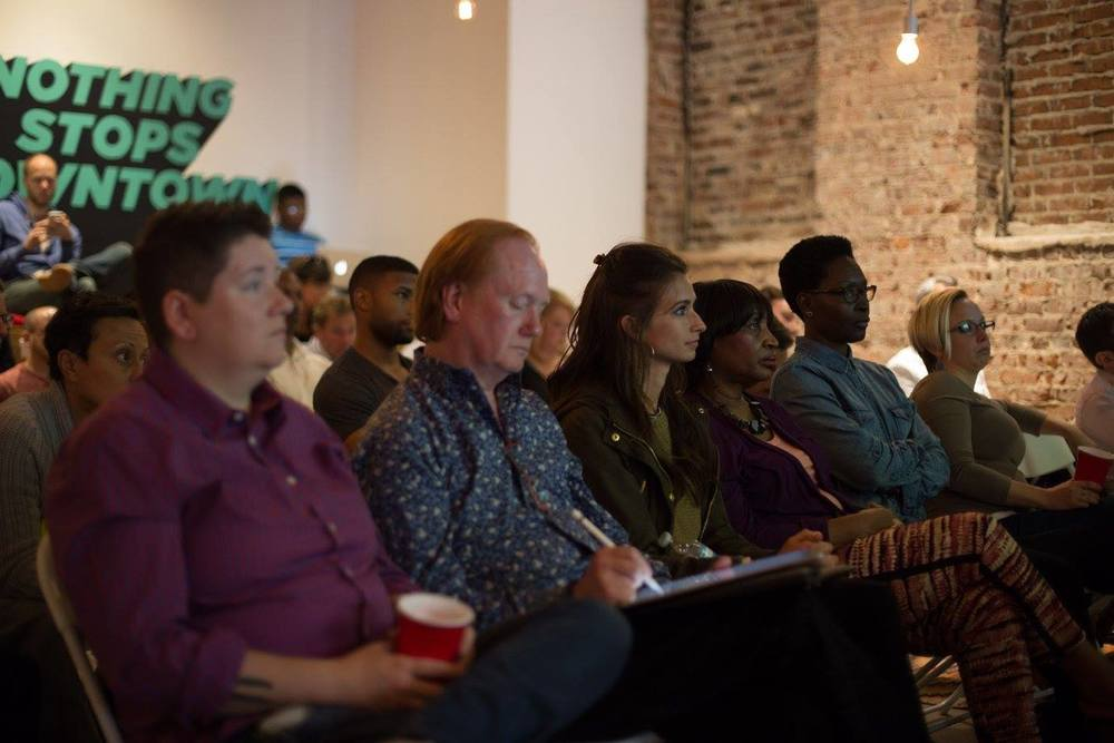 The rapt audience, taking notes.    PHOTO:   Bhargava Chiluveru     of   Chil Creative