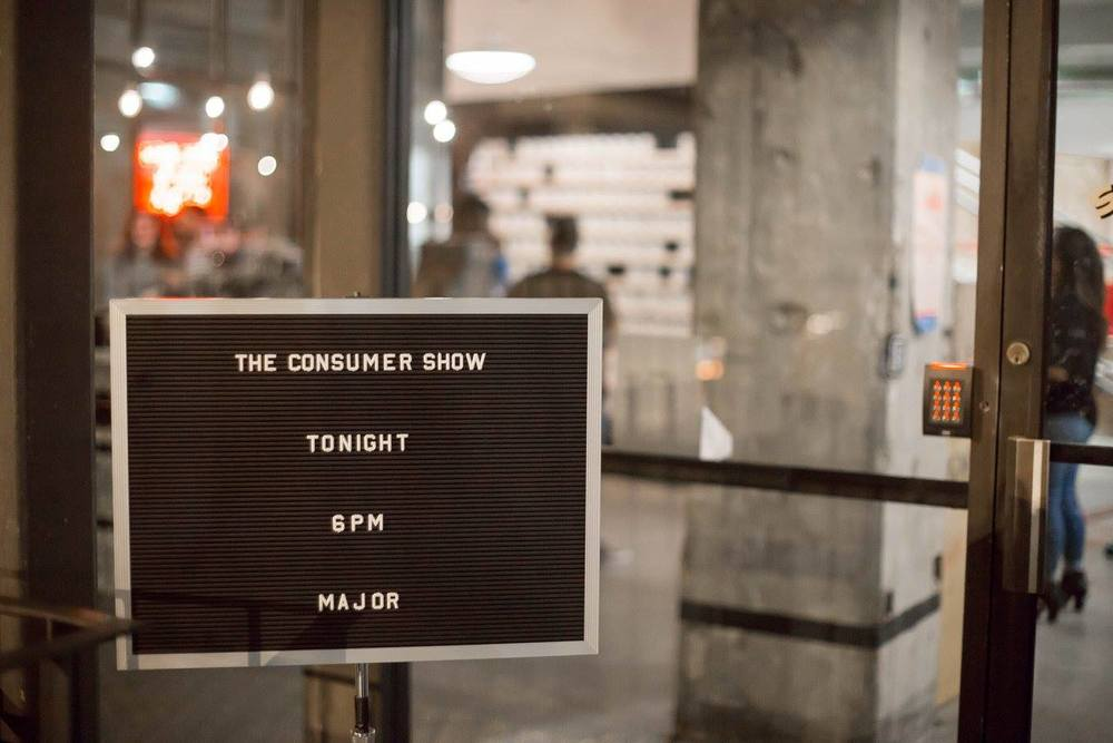 The Consumer Show. Always a major event, always the first Thursday of the month. PHOTO: Bhargava Chiluveru of Chil Creative