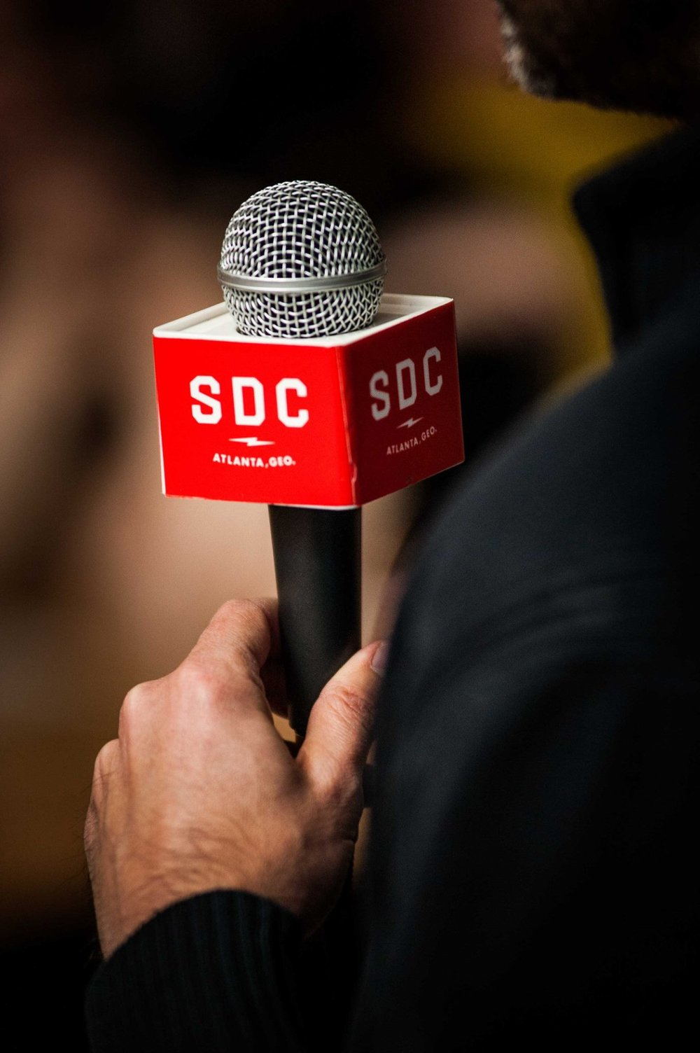 Grab a mic  at Switchyards to share your startup with the world! | PHOTO:  Jason Seagle